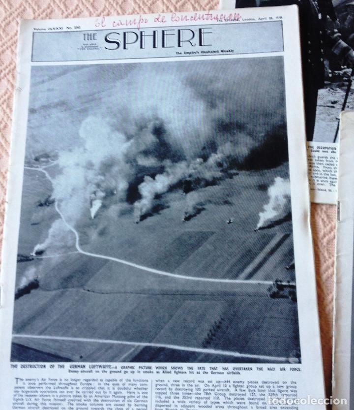 Coleccionismo de Revistas y Periódicos: THE SPHERE- 5 revistas de 1945- Guerra Mundial- en ingles- - Foto 2 - 76772687