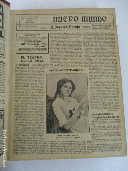 Coleccionismo de Revistas y Periódicos: Nuevo Mundo - Periódico Ilustrado - Tomo - Encuadernado - Año 1910 - del nº 861 al 886 - Foto 4 - 76963081