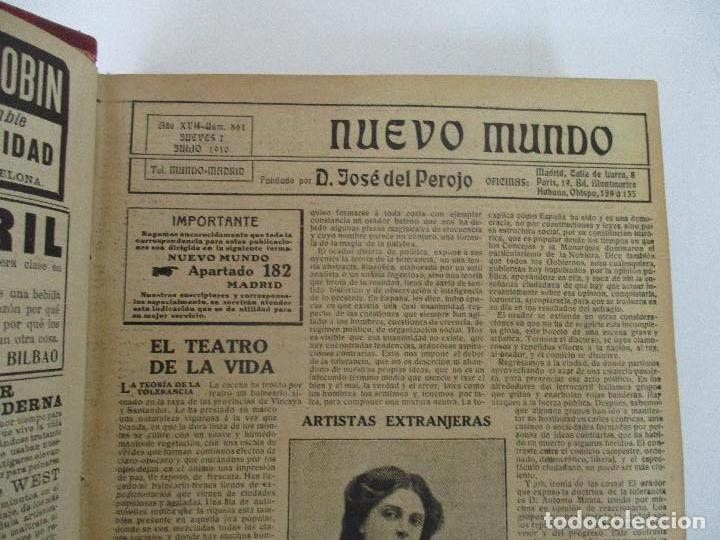Coleccionismo de Revistas y Periódicos: Nuevo Mundo - Periódico Ilustrado - Tomo - Encuadernado - Año 1910 - del nº 861 al 886 - Foto 5 - 76963081
