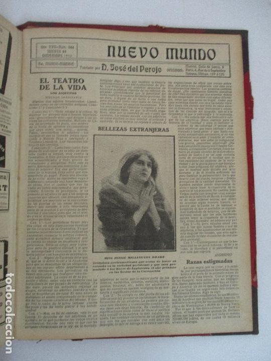Coleccionismo de Revistas y Periódicos: Nuevo Mundo - Periódico Ilustrado - Tomo - Encuadernado - Año 1910 - del nº 861 al 886 - Foto 6 - 76963081