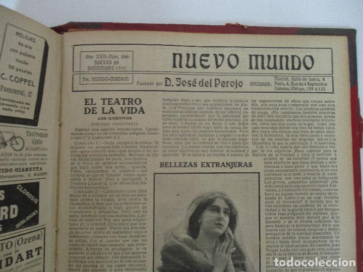 Coleccionismo de Revistas y Periódicos: Nuevo Mundo - Periódico Ilustrado - Tomo - Encuadernado - Año 1910 - del nº 861 al 886 - Foto 7 - 76963081