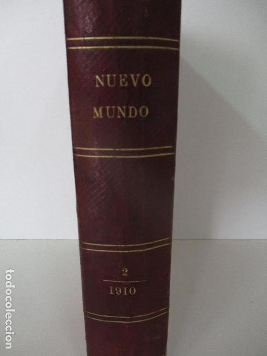 Coleccionismo de Revistas y Periódicos: Nuevo Mundo - Periódico Ilustrado - Tomo - Encuadernado - Año 1910 - del nº 861 al 886 - Foto 9 - 76963081