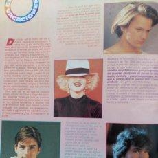 Coleccionismo de Revistas y Periódicos: RECORTE RIVER PHOENIX MADONNA TOM CRUISE PATRICK SWAYZE. Lote 76966077