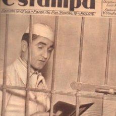 Coleccionismo de Revistas y Periódicos: REVISTA ESTAMPA 30 JUNIO 1934. Lote 77302289