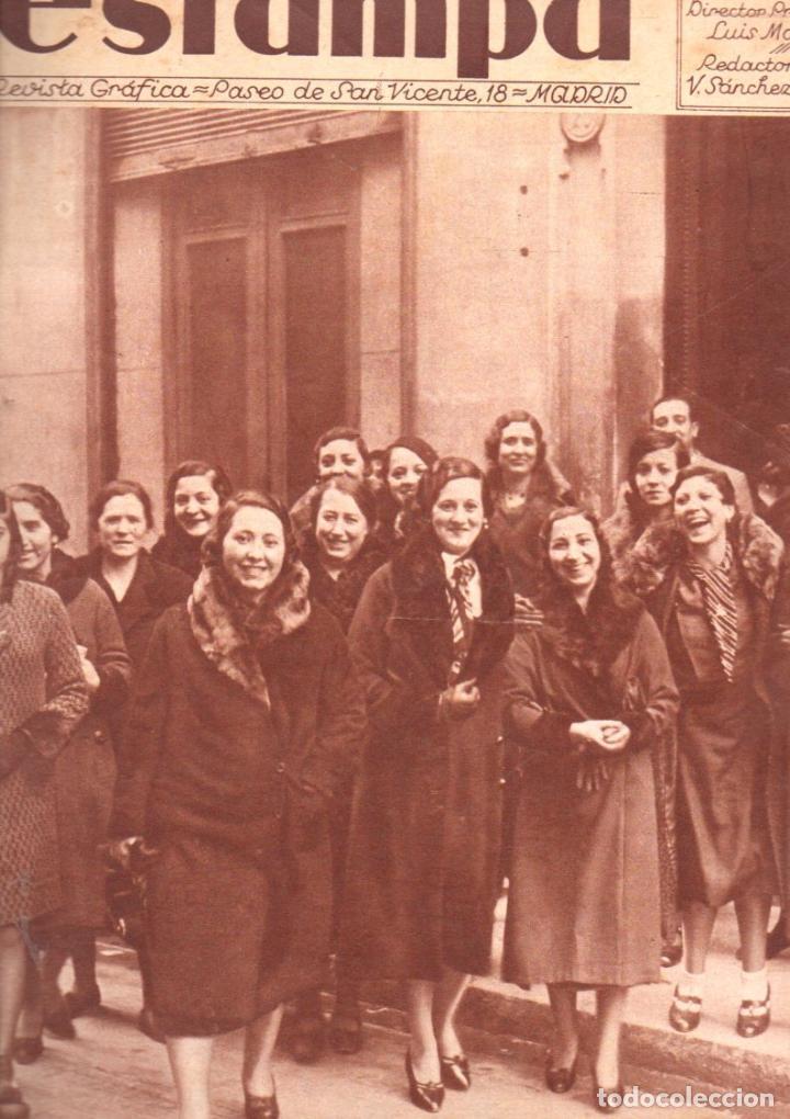 REVISTA ESTAMPA 3 FEBRERO 1934 (Coleccionismo - Revistas y Periódicos Antiguos (hasta 1.939))