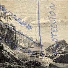Coleccionismo de Revistas y Periódicos: AMALFI 1879 ITALIA VISTA PUERTO ILUSTRACION 2 HOJAS RVEISTA. Lote 77319193