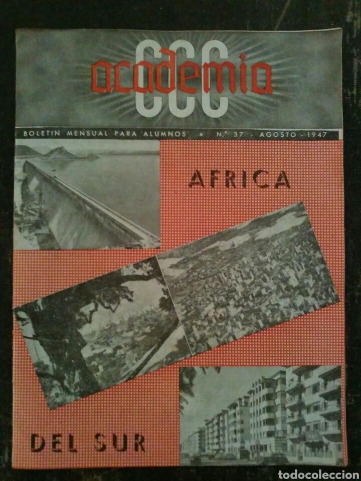 REVISTA BOLETÍN PARA ALUMNOS ACADEMIA CCC AGOSTO DE 1947 (Coleccionismo - Revistas y Periódicos Modernos (a partir de 1.940) - Otros)