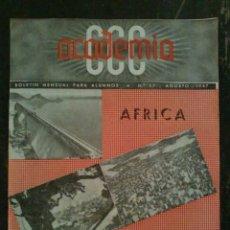 Coleccionismo de Revistas y Periódicos: REVISTA BOLETÍN PARA ALUMNOS ACADEMIA CCC AGOSTO DE 1947. Lote 77360511