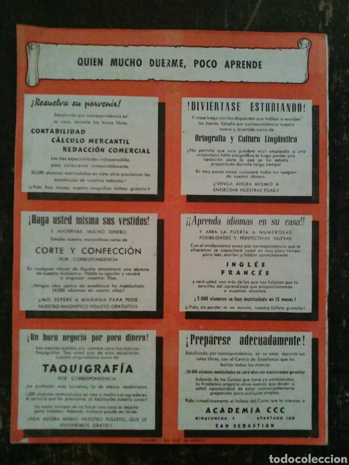 Coleccionismo de Revistas y Periódicos: Revista Boletín para alumnos Academia CCC Agosto de 1947 - Foto 2 - 77360511