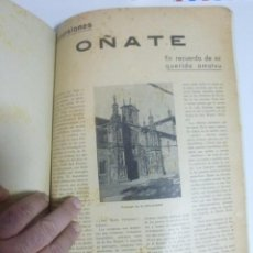 Coleccionismo de Revistas y Periódicos: REVISTA PUEBLOS DEL PAIS VASCO AÑOS 30 EUSKADI EUSKAL HERRIA ORDIZIA VITORIA ZARAUZ. Lote 77360941