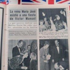 Coleccionismo de Revistas y Periódicos: ARTICULO LA REINA MARIA JOSE MARINA DORIA VICTOR MANUEL DE SABOYA MARIA PIA . Lote 77517849