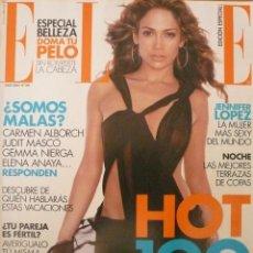 Coleccionismo de Revistas y Periódicos: ELLE / JULIO 2002 / PORTADA JENNIFER LOPEZ. Lote 77744969