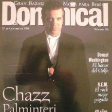 Coleccionismo de Revistas y Periódicos: DOMINICAL / 27 OCTUBRE 1996 / PORTADA CHAZZ PALMINTERI . Lote 77833933