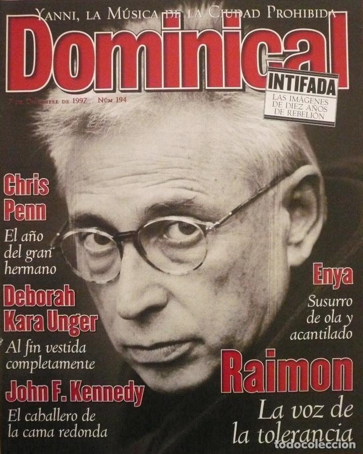 DOMINICAL / 7 DICIEMBRE 1997 / PORTADA RAIMON (Coleccionismo - Revistas y Periódicos Modernos (a partir de 1.940) - Otros)
