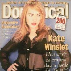 Coleccionismo de Revistas y Periódicos: DOMINICAL / 18 ENERO 1998 / PORTADA KATE WINSLET. Lote 77904369