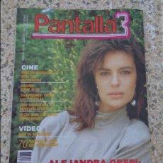 Coleccionismo de Revistas y Periódicos: PANTALLA 3 -- NUMERO 83 - ALEJANDRA GREPI - NOVEDADES VIDEO - 70 CARATULAS ORIGINALES - SUPERHEROES. Lote 77916801