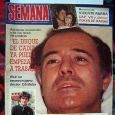 Coleccionismo de Revistas y Periódicos: REVISTA SEMANA / JULIO IGLESIAS, CAMILO SESTO, RAFFAELLA CARRA, DUQUE DE CADIZ, PLACIDO DOMINGO. Lote 78020549