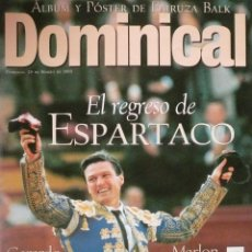 Coleccionismo de Revistas y Periódicos: DOMINICAL / 28 MARZO 1999 / PORTADA ESPARTACO. Lote 78132473