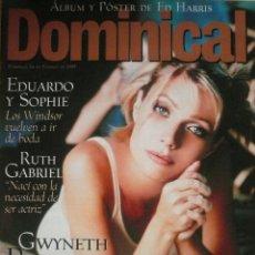 Coleccionismo de Revistas y Periódicos: DOMINICAL / 14 FEBRERO 1999 / PORTADA GWYNETH PALTROW. Lote 78134941