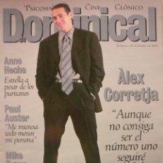 Coleccionismo de Revistas y Periódicos: DOMINICAL / 10 ENERO 1999 / PORTADA ALEX CORRETJA. Lote 78135149