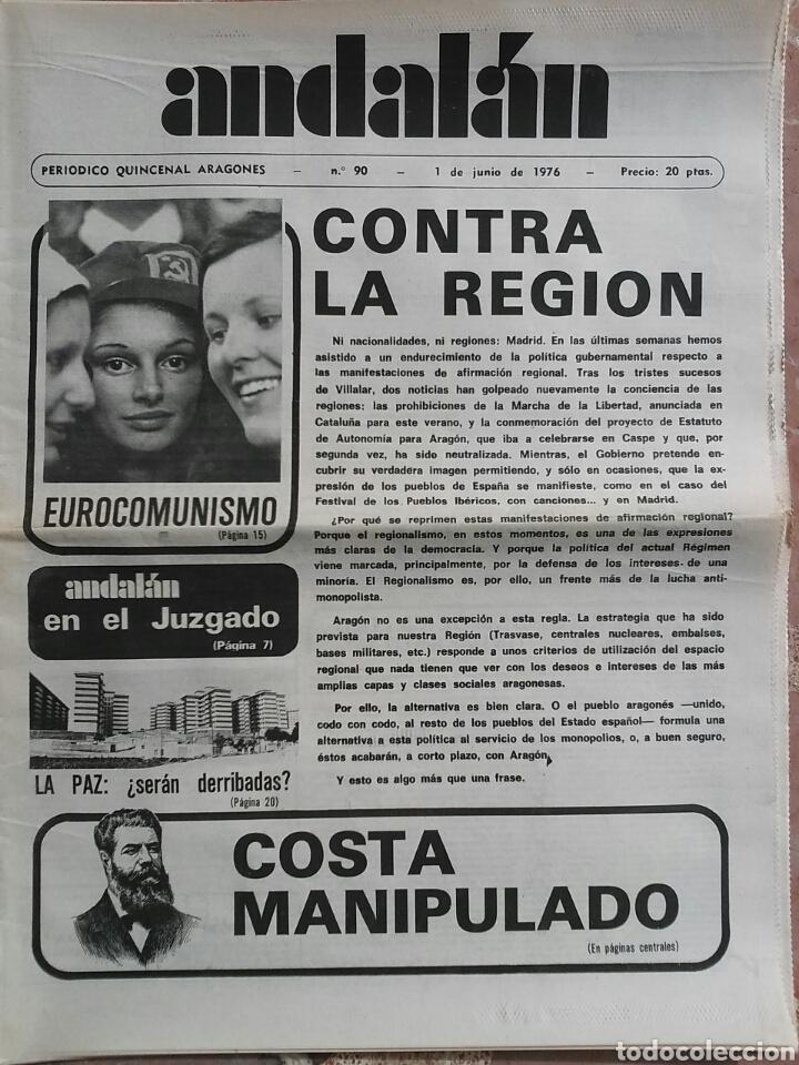 PERIÓDICO ANDALÁN CONTRA LA REGIÓN (Coleccionismo - Revistas y Periódicos Modernos (a partir de 1.940) - Otros)