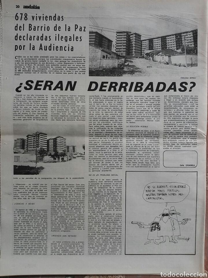 Coleccionismo de Revistas y Periódicos: Periódico Andalán Contra la región - Foto 2 - 78236151