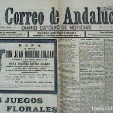 Coleccionismo de Revistas y Periódicos: EL CORREO DE ANDALUCÍA. AÑO XVII. Nº 5.714.. Lote 195077480
