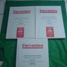 Coleccionismo de Revistas y Periódicos: CERVANTES. REVISTA DEL INSTITUTO CERVANTES EN ITALIA. NÚMEROS 0, 1 Y 2 (2001 /2002). . Lote 78268329