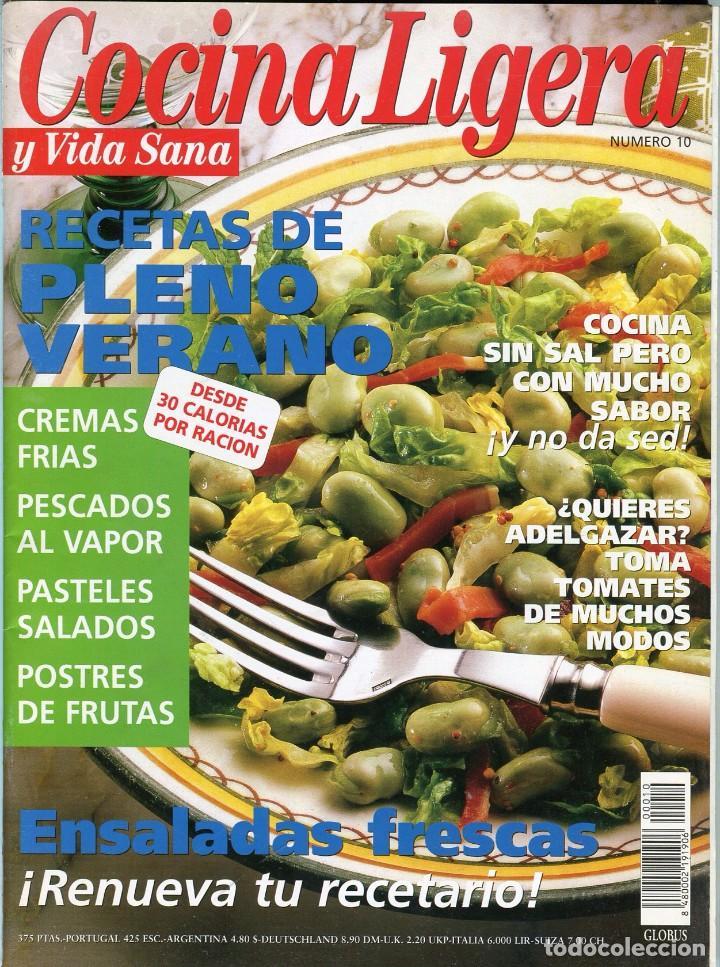 COCINA LIGERA Y VIDA SANA Nº 10 (Coleccionismo - Revistas y Periódicos Modernos (a partir de 1.940) - Otros)