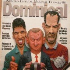 Coleccionismo de Revistas y Periódicos: DOMINICAL / 7 JUNIO 1998 / PORTADA RAÚL, CLEMENTE, ZUBIZARRETA. Lote 78310309