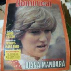 Coleccionismo de Revistas y Periódicos: ANTENA DOMINICAL. JULIO 1981. LADY DI DIANA. Lote 78343065