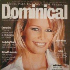 Coleccionismo de Revistas y Periódicos: DOMINICAL / 31 JULIO 1994 / PORTADA CLAUDIA SCHIFFER. Lote 78524149