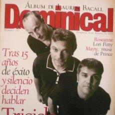 Coleccionismo de Revistas y Periódicos: DOMINICAL / 6 AGOSTO 1995/ PORTADA TRICICLE. Lote 78528133
