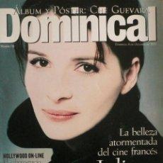 Coleccionismo de Revistas y Periódicos: DOMINICAL / 8 OCTUBRE 1995 / PORTADA JULIETTE BINOCHE. Lote 78531329