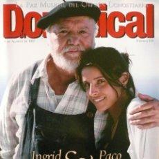 Coleccionismo de Revistas y Periódicos: DOMINICAL / 3 AGOSTO 1997 / PORTADA INGRID RUBIO Y PACO RABAL. Lote 78534105