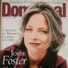 Coleccionismo de Revistas y Periódicos: DOMINICAL / 24 AGOSTO 1997 / PORTADA JODIE FOSTER. Lote 78570405