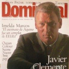 Coleccionismo de Revistas y Periódicos: DOMINICAL / 9 JUNIO 1996 / PORTADA JAVIER CLEMENTE. Lote 78571269
