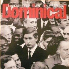 Coleccionismo de Revistas y Periódicos: DOMINICAL / 29 ENERO 1995 / PORTADA CARLOS DE INGLATERRA. Lote 78574297