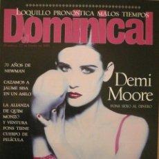 Coleccionismo de Revistas y Periódicos: DOMINICAL / 22 ENERO 1995 / PORTADA DEMI MOORE. Lote 78574469