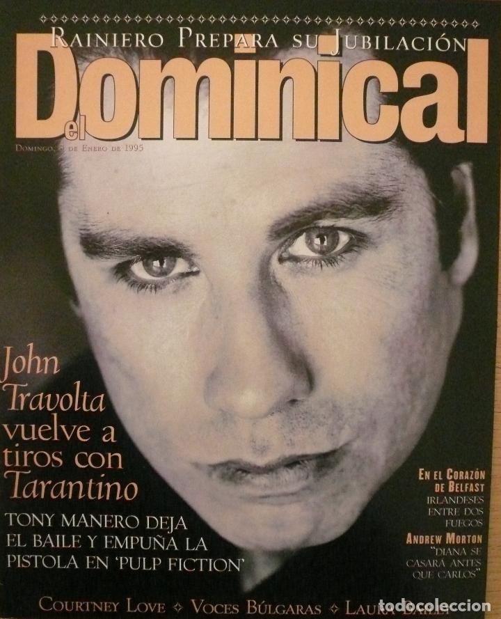 DOMINICAL / 8 ENERO 1995 / PORTADA JOHN TRAVOLTA (Coleccionismo - Revistas y Periódicos Modernos (a partir de 1.940) - Otros)