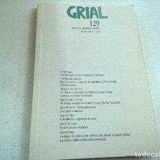 Coleccionismo de Revistas y Periódicos: REVISTA GRIAL-NUMERO 129-XANEIRO,FEBREIRO,MARZO-1996-N. Lote 78584413