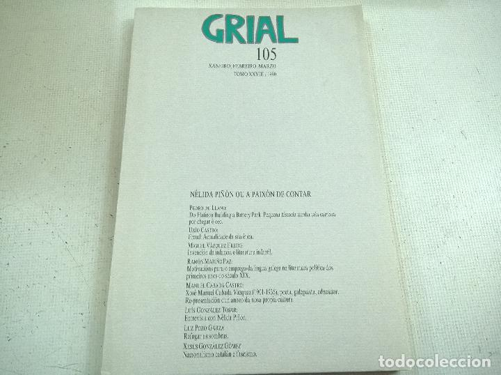 REVISTA GRIAL-NUMERO 105-XANEIRO,FEBREIRO,MARZO-1990-N (Coleccionismo - Revistas y Periódicos Modernos (a partir de 1.940) - Otros)