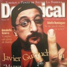 Coleccionismo de Revistas y Periódicos: DOMINICAL / 30 MARZO 1997 / PORTADA JAVIER GURRUCHAGA. Lote 78596737