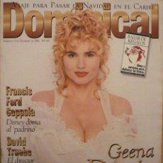 Coleccionismo de Revistas y Periódicos: DOMINICAL / 8 DICIEMBRE 1996 / PORTADA GEENA DAVIS. Lote 78598445