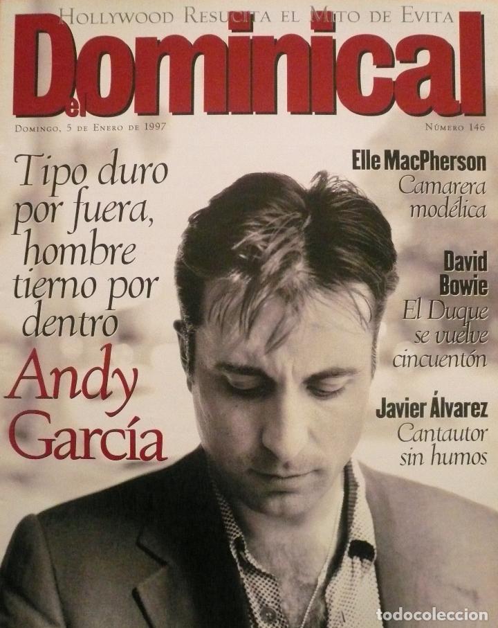 DOMINICAL / 5 ENERO 1997 / PORTADA ANDY GARCÍA (Coleccionismo - Revistas y Periódicos Modernos (a partir de 1.940) - Otros)