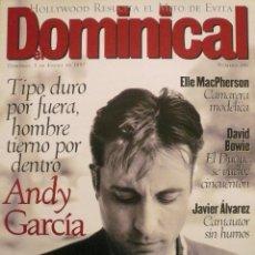 Coleccionismo de Revistas y Periódicos: DOMINICAL / 5 ENERO 1997 / PORTADA ANDY GARCÍA. Lote 78599769