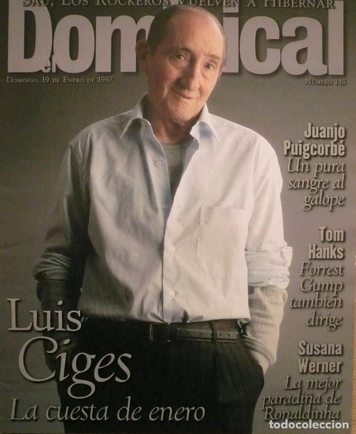 DOMINICAL / 19 ENERO 1997 / PORTADA LUIS CIGES (Coleccionismo - Revistas y Periódicos Modernos (a partir de 1.940) - Otros)