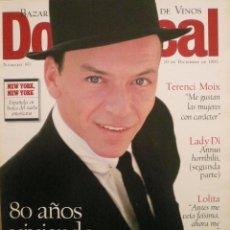 Coleccionismo de Revistas y Periódicos: DOMINICAL / 10 DICIEMBRE 1995 / PORTADA FRANK SINATRA. Lote 78602161
