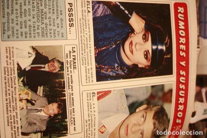 Coleccionismo de Revistas y Periódicos: JOAN COLLINS SARA MONTIEL PALOMA SAN BASILIO NORMAL DUVAL ROCIO JURADO ALASKA 1985 - Foto 3 - 78623601