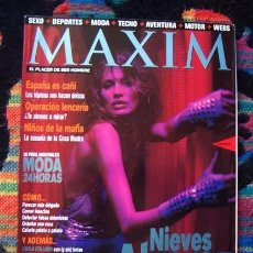 Coleccionismo de Revistas y Periódicos: REVISTA MAXIM Nº 1 / NÚMERO UNO / NIEVES ALVAREZ, PERET, CARLA COLLADO, CARRE OTIS Y ++. Lote 79640369
